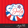 Free 4th of July frame clipart, Independence day Graphics