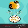 Free New year celebration Frame clipart, Happy New year with balloons.