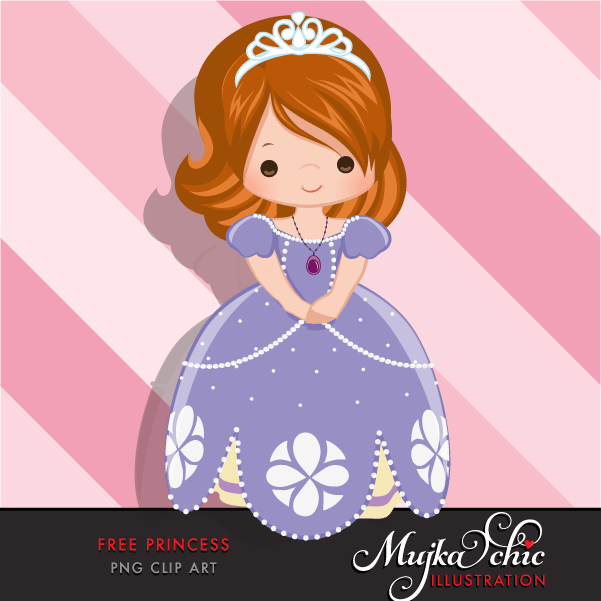 Free Princess Clipart, Princess Sophia fan art graphics.