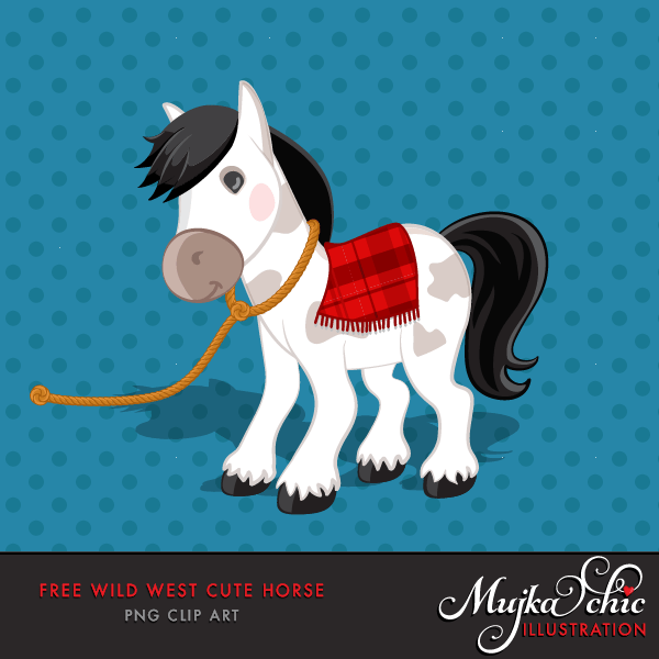 Free Western horse, cowboy graphics, free animal clipart
