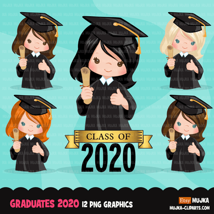 School Education Clipart Bundle. Students, graduates, teachers, distant learning and school elements graphics, boys girls