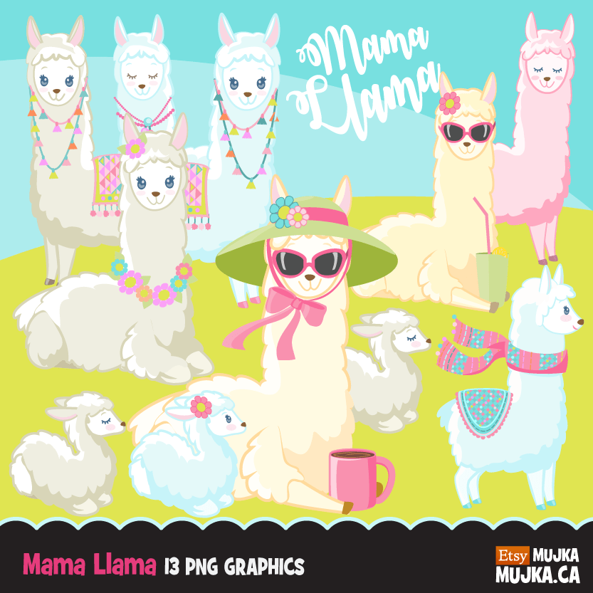 Easter Spring Clipart Bundle, gnomes, bunny, kids, eggs, animals, plants, llama graphics commercial use PNG clip art