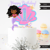 Mermaid Birthday Numbers Cake toppers SVG, PNG cutting files and clipart. Black curly Rainbow mermaid graphics for Cricut, Silhouette