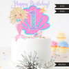 Mermaid Birthday Numbers Cake toppers SVG, PNG cutting files and clipart. Blonde curly Rainbow mermaid graphics for Cricut, Silhouette