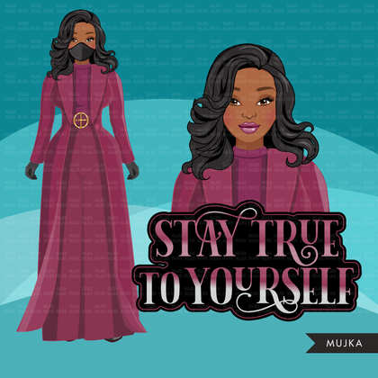 Michelle Obama inauguration 2021 fashion clipart, stay true to yourself, history graphics, PNG