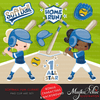 Baseball & Softball Clipart Bundle, Sports graphics, sublimation, print and cut  commercial use PNG clip art