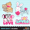 Valentine clipart Design Bundle V2, Cute celebration graphics, boys and girls, animals