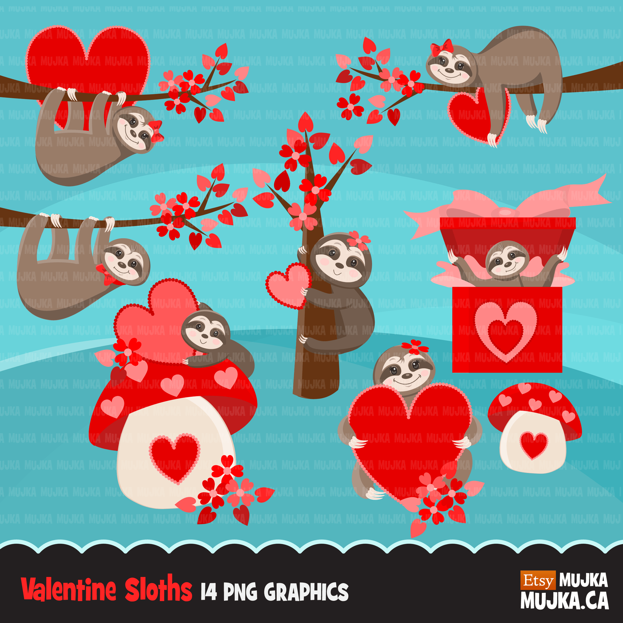 Valentine Clipart Design Bundle V1 Cute Celebration Graphics Boys An Mujka Cliparts