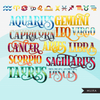 Zodiac Clipart Bundle, Astrology art, Horoscope Sublimation Graphics, astrology signs, fashion designs, woman graphics, png for cricut