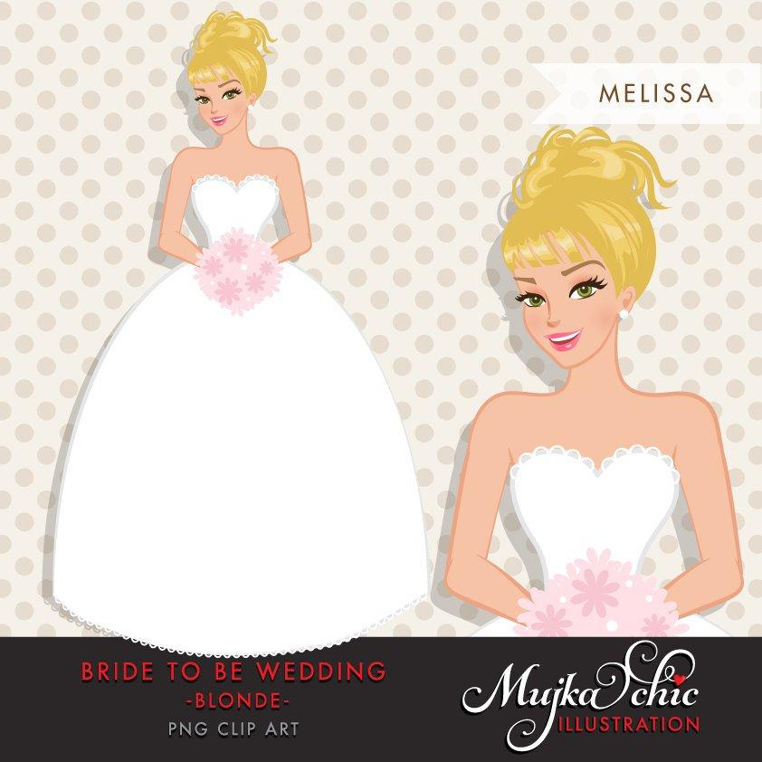 Blonde Bride Clipart wedding graphics