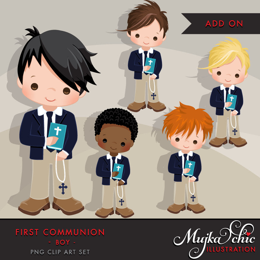 First Communion Clipart for Boy Add On. religious
