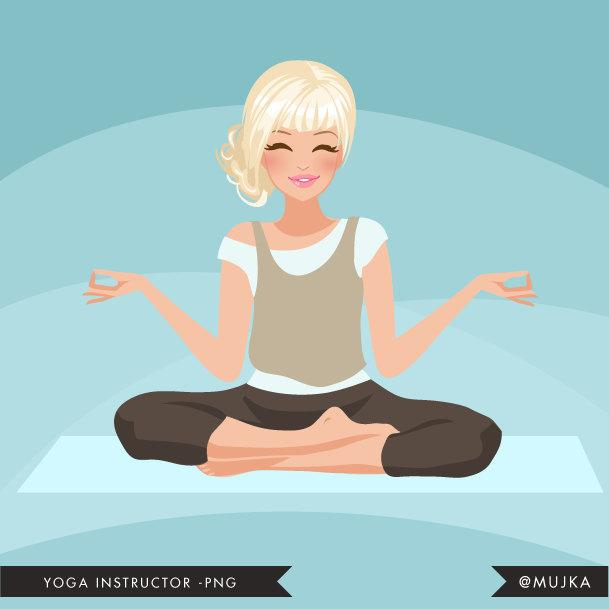 Blonde Yoga instructor Avatar. Yogi woman