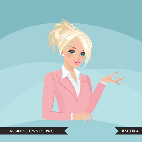 Female Business owner, shop owner Avatar Design