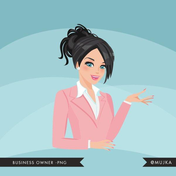 Dark brunette Business owner, shop owner Avatar Design