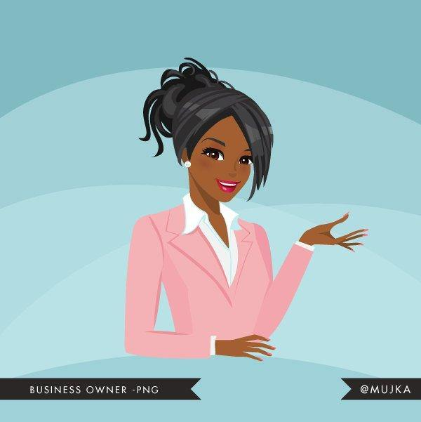 African American Business owner, shop owner Avatar Design