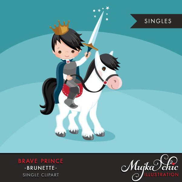 Brave Prince Clipart. Cute boy graphic