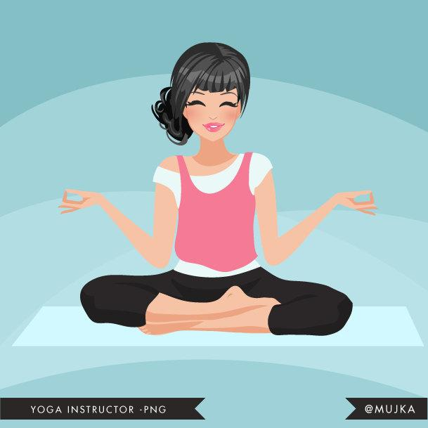 Dark brunette Yoga instructor Avatar. Yogi woman