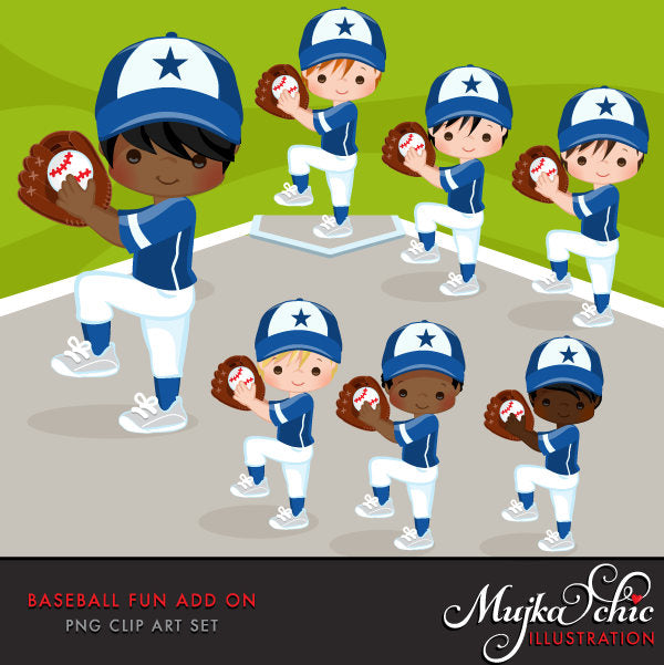 Baseball Boy Clipart ADD ON
