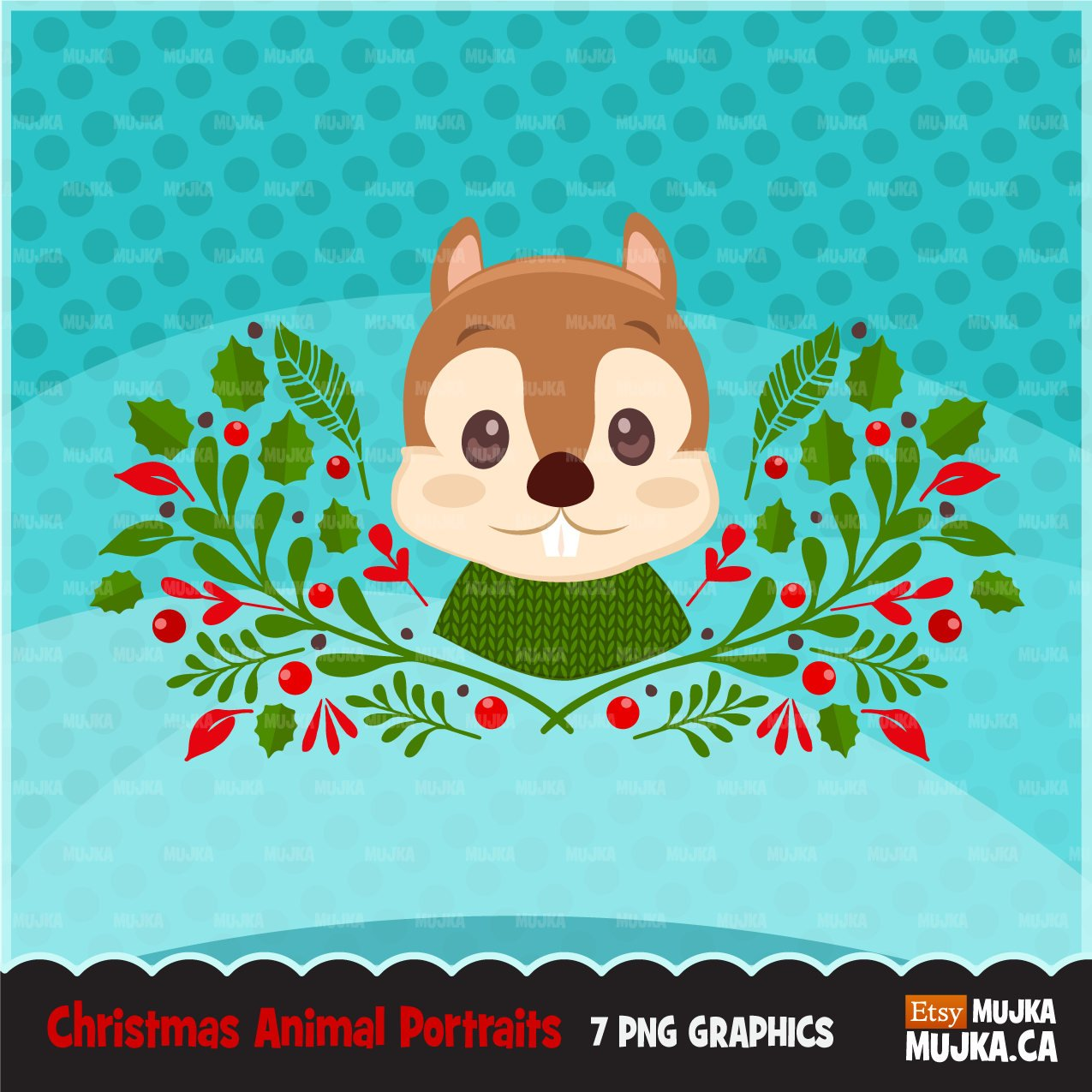 Christmas Animals clipart