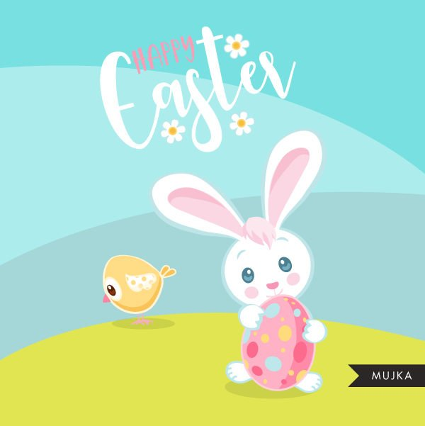 Easter animal clipart spring