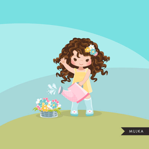 Spring flowers Easter clipart