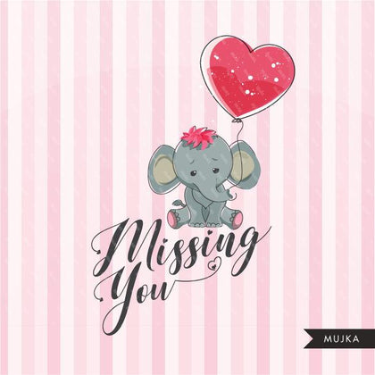 Valentines Day Cute Animal Clipart