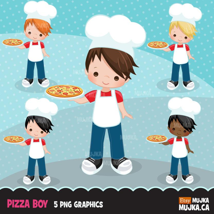 Pizza Chef Clipart, boy chef
