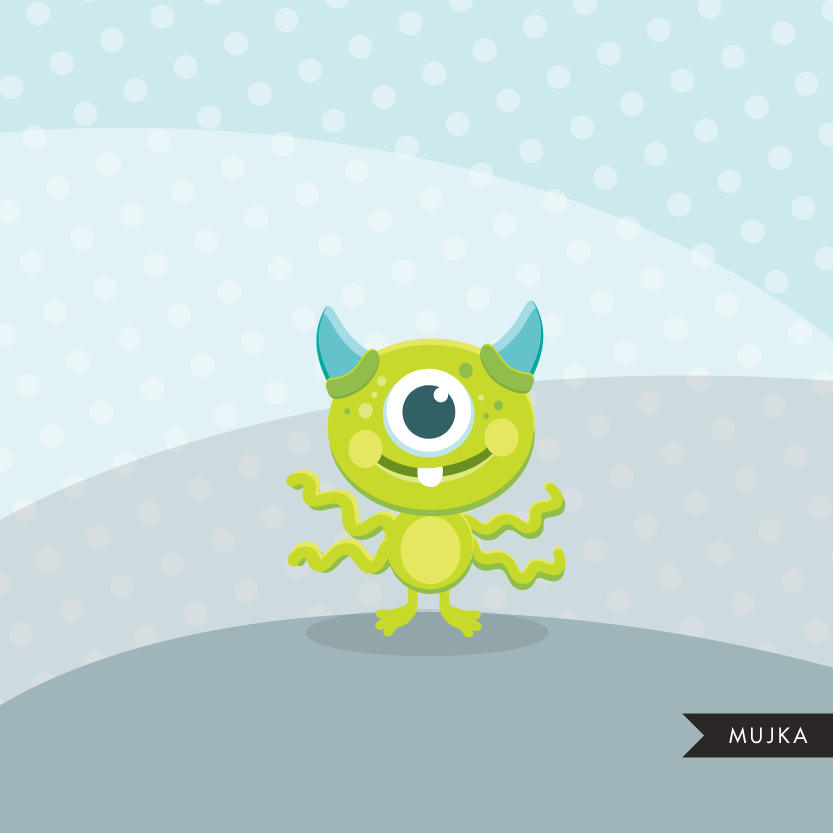 Cute Monsters clipart, animal graphic