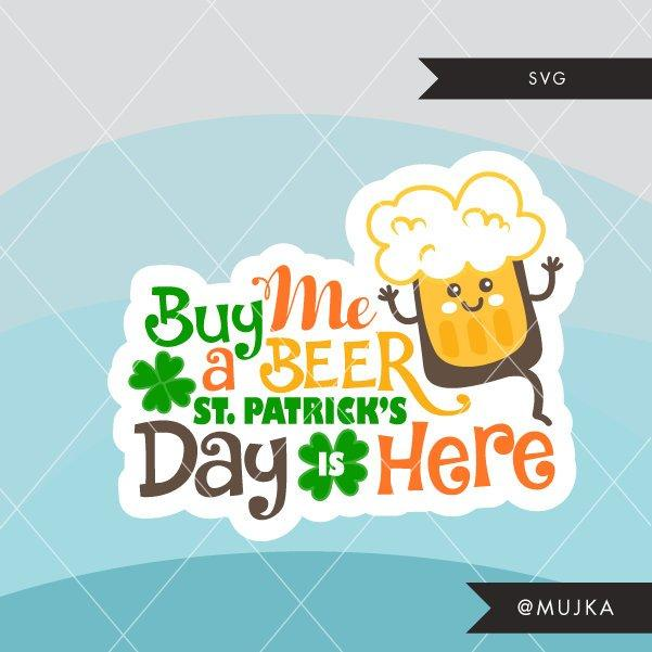 St. Patrick's Day SVG DFX PNG cutting file