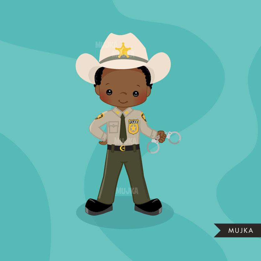 Sheriff, Cops, police officer clipart, boy clipart