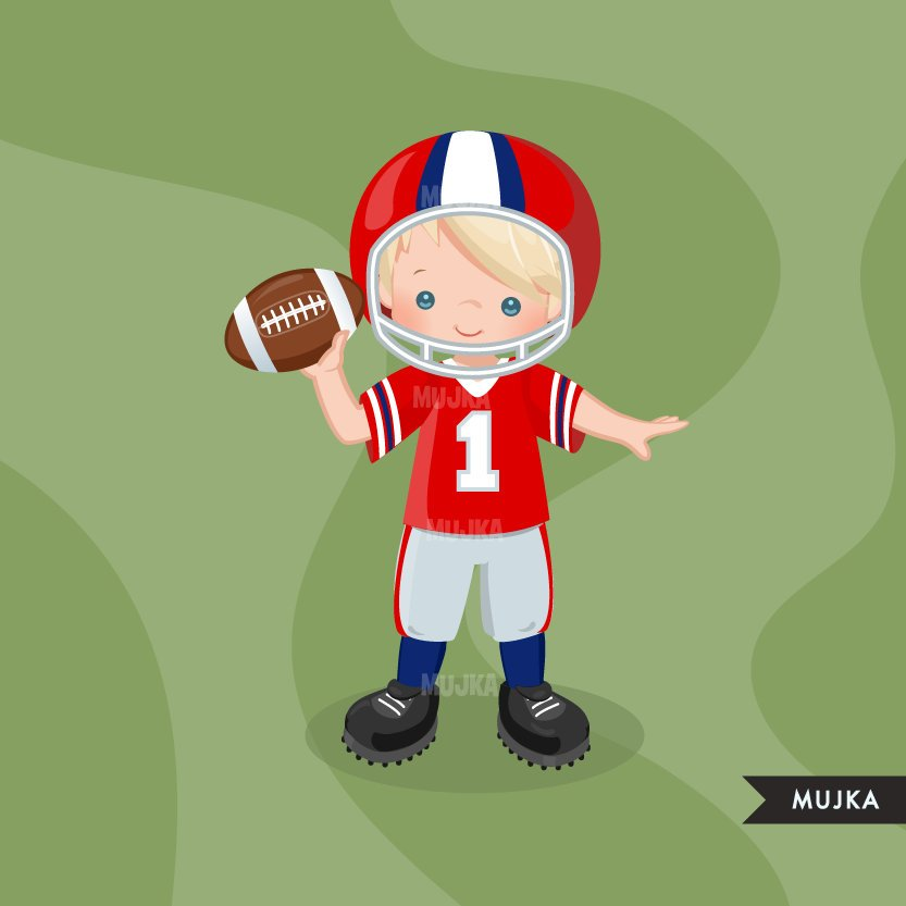 Boys Football clipart