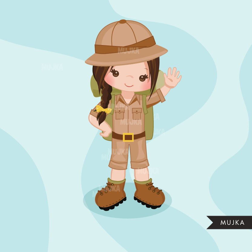 Safari girl Clipart