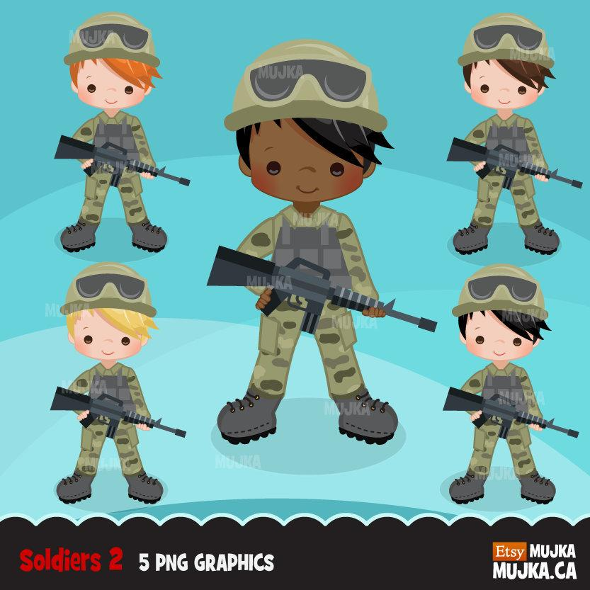 Army clipart, Little soldier boy graphics