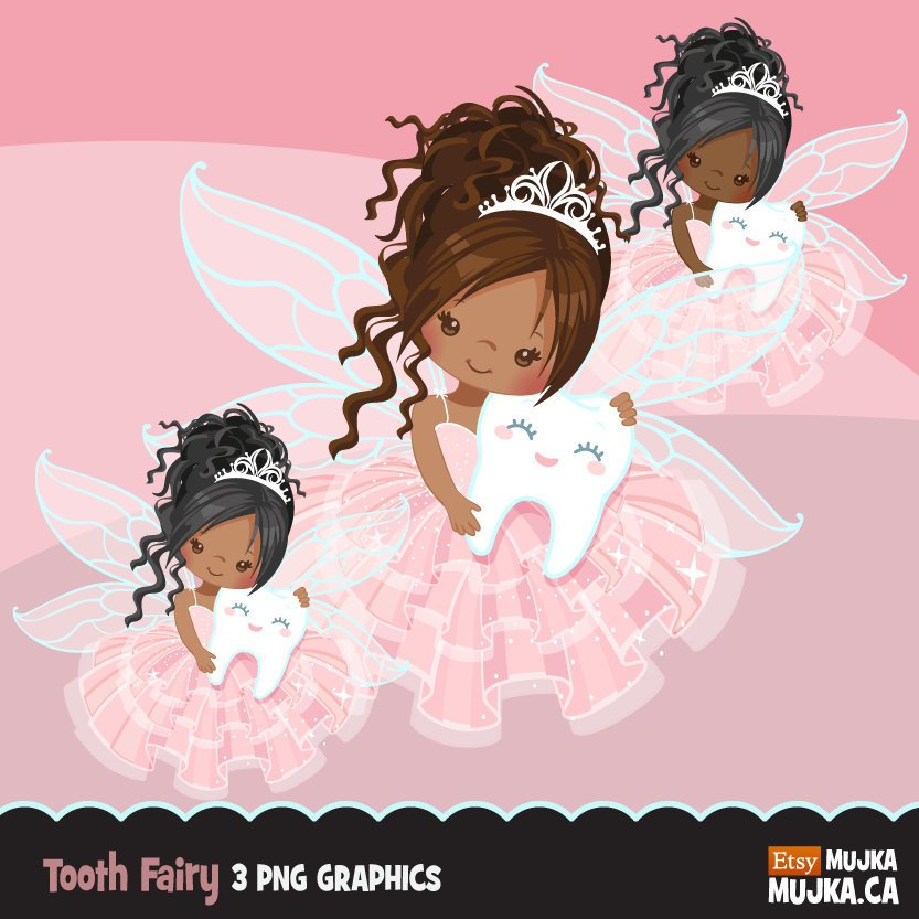 Girl Tooth Fairy clipart