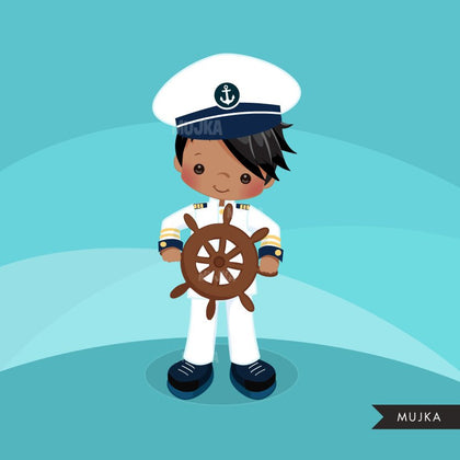 Navy Clipart, sailor boy