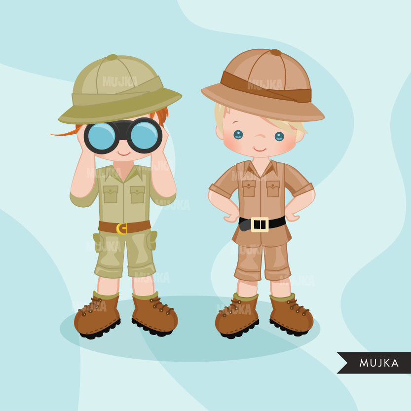 Safari boy Clipart