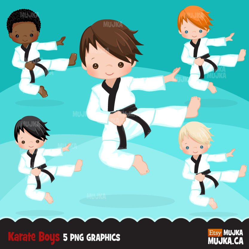 Karate Kid Clipart, Sporty boy graphic