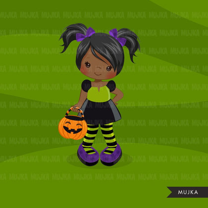 Halloween Trick or treat, girl in costume