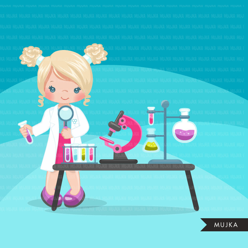 Science Girl Clipart