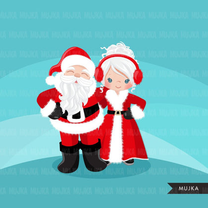 Santa clipart, Merry christmas