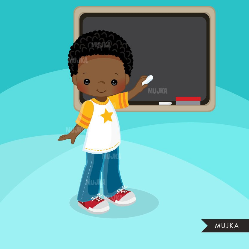 Boy Student clipart. School Graphics
