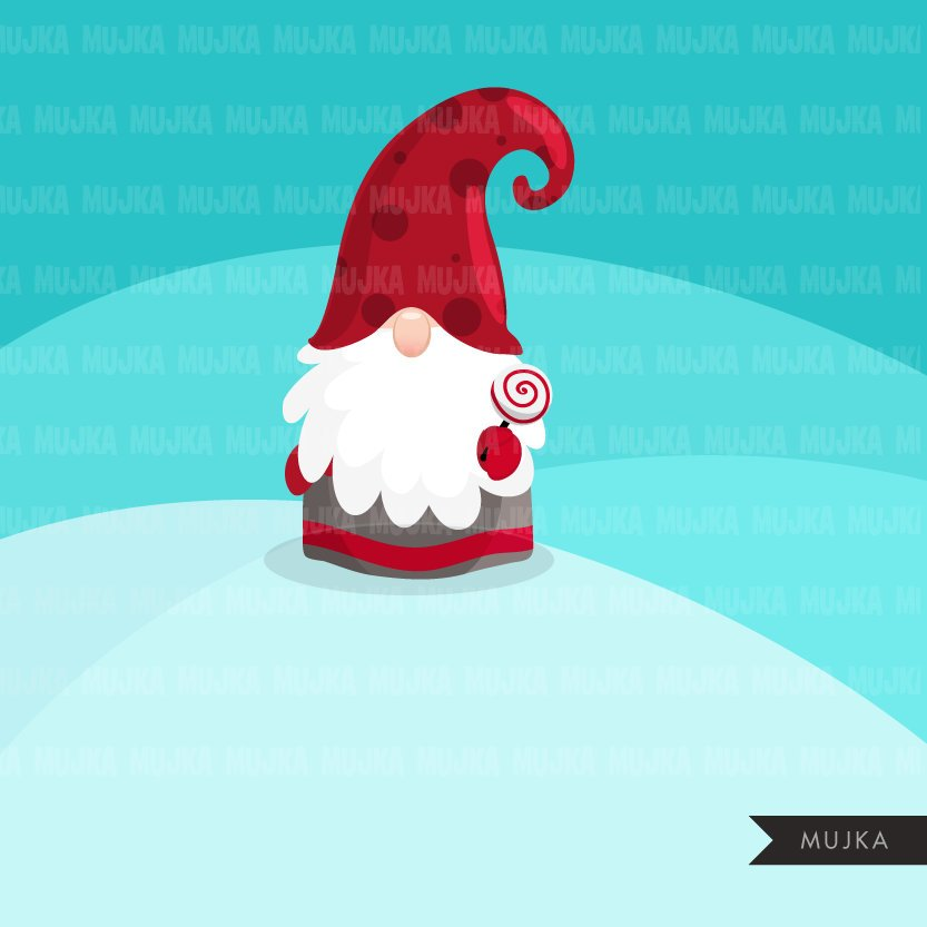 Christmas gnomes Clipart