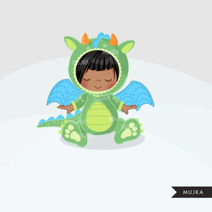 Baby Dragon clipart, Halloween Dragon costume