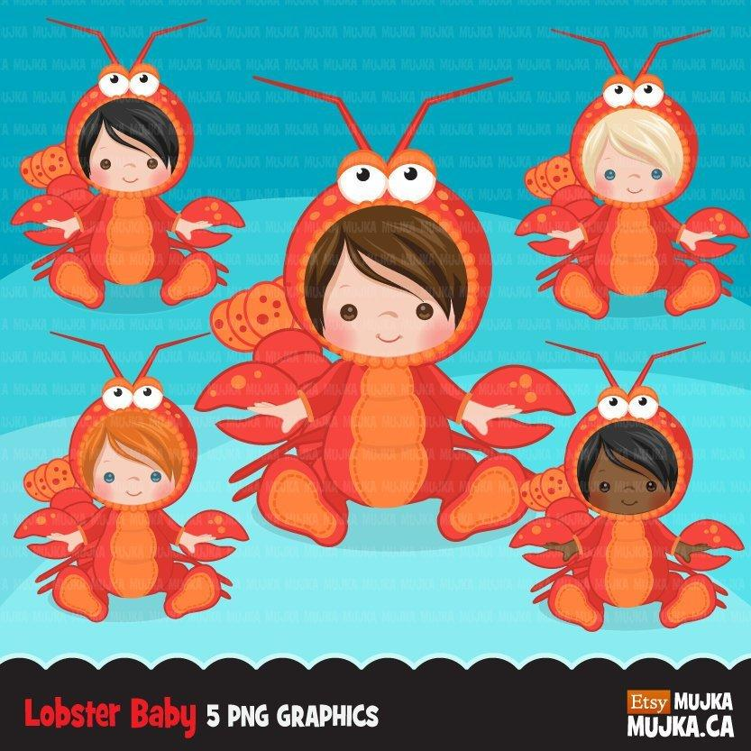 Baby Lobster clipart, Animal costume