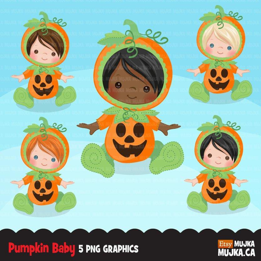 Baby Pumpkin clipart, halloween costume