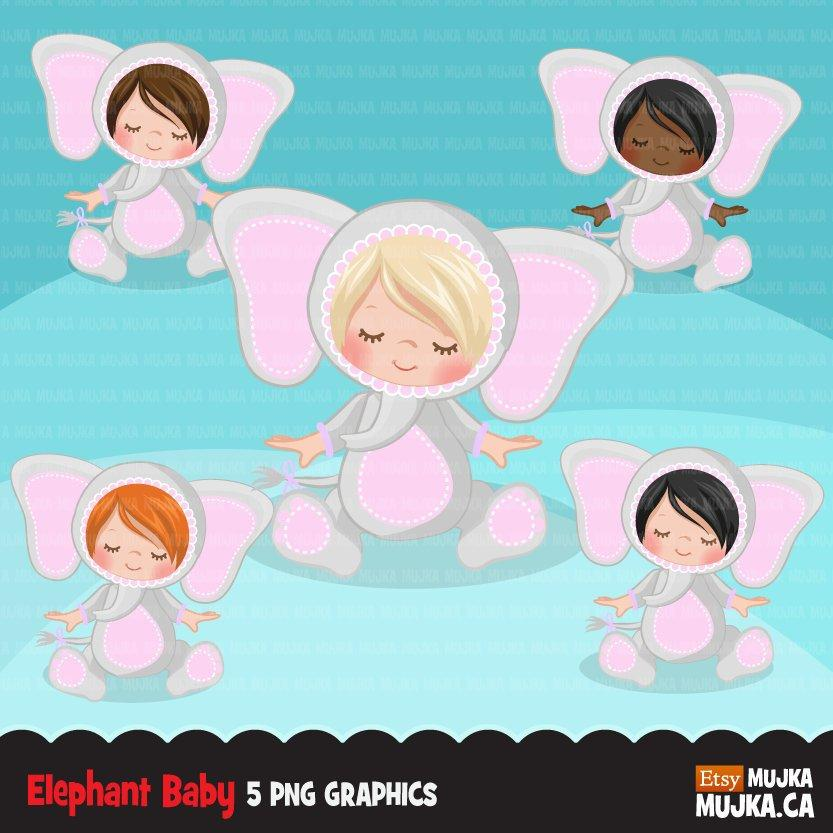 Baby elephant clipart, halloween costume