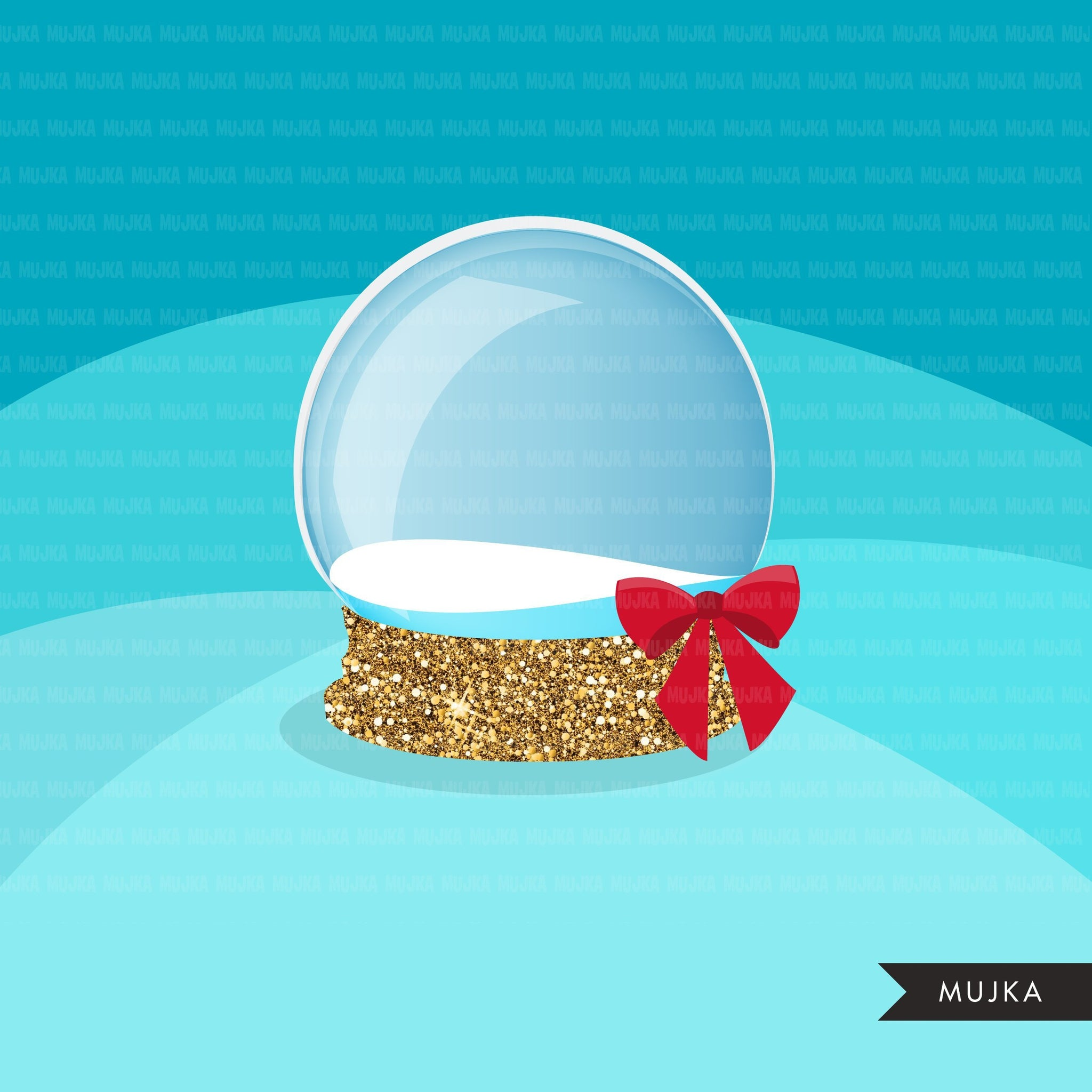 Christmas snow globe clipart winter, snow globe creator, make your own graphic