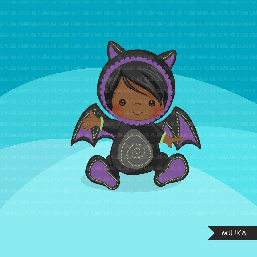 Baby Bat clipart, Halloween costume