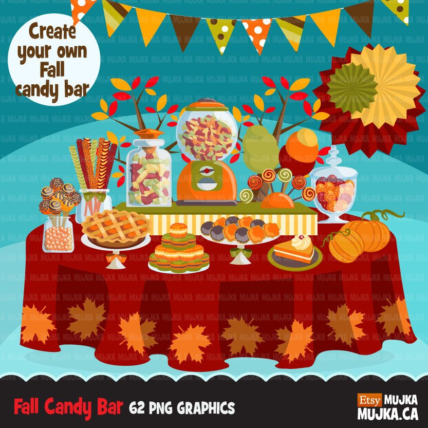 Thanksgiving fall Candy Clipart