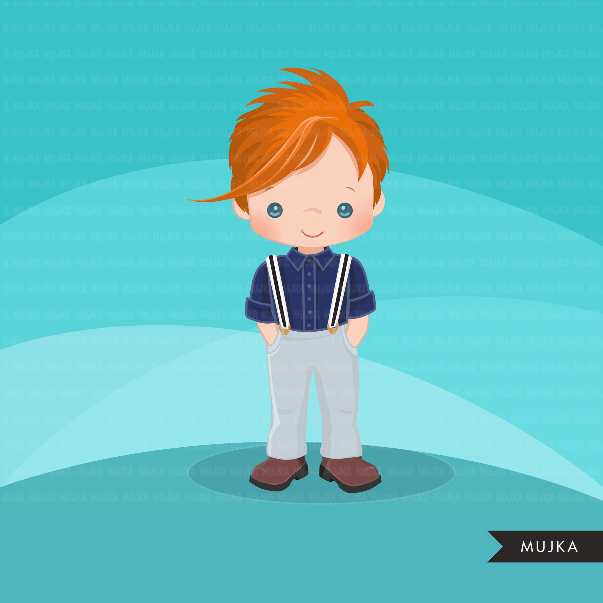 Little boy cute outfits clipart.
